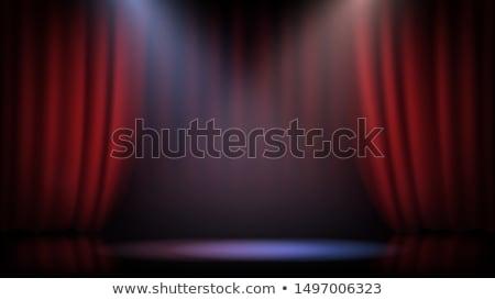 Foto d'archivio: Teatro · fase · rosso · sipario · maschera