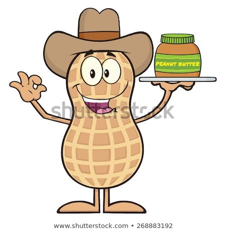 Drôle Cowboy arachide mascotte dessinée personnage Photo stock © hittoon