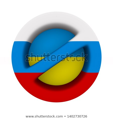 flag russia and ukraine and sign forbidden on white background.  Stock photo © ISerg