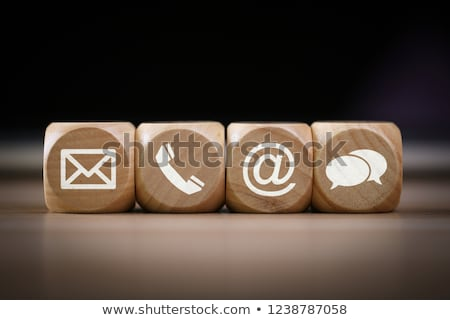 Primer plano teléfono post iconos Foto stock © AndreyPopov