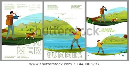 Banner szablon dzieci staw ilustracja dziecko Zdjęcia stock © colematt