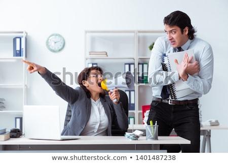 сердиться · Boss · служащий · служба · сотрудник - Сток-фото © elnur
