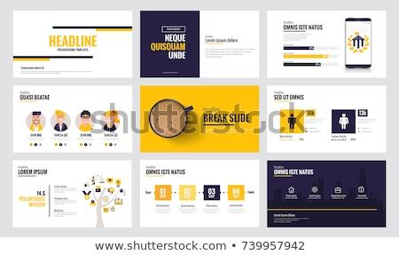Vector concept slide for presentation with creative business illustration Stock photo © Giraffarte