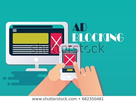 Stock photo: Ad blocking software concept vector illustration.