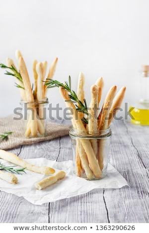 Italienisch gesalzen Brot Sesam Rosmarin Kraut Stock foto © marylooo