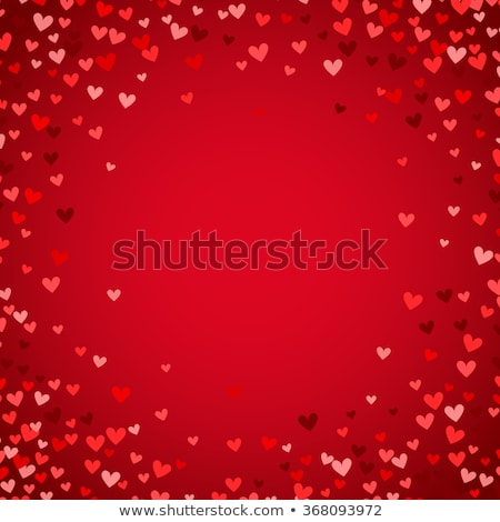 Valentine card template with many hearts Stock photo © colematt