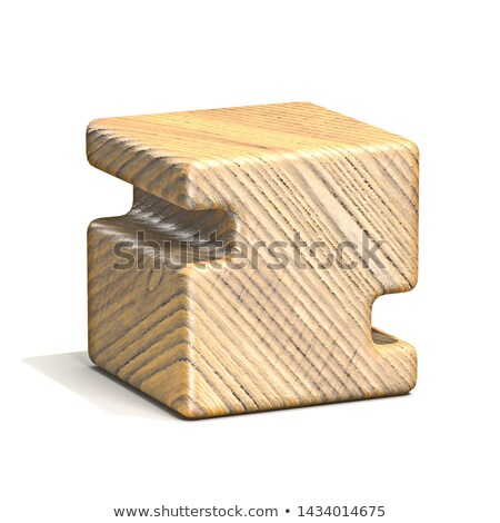 solid wooden cube font letter z 3d stock photo © djmilic
