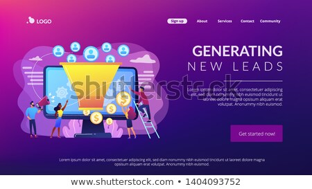 Stock photo: Generating New Leads Concept Landing Page