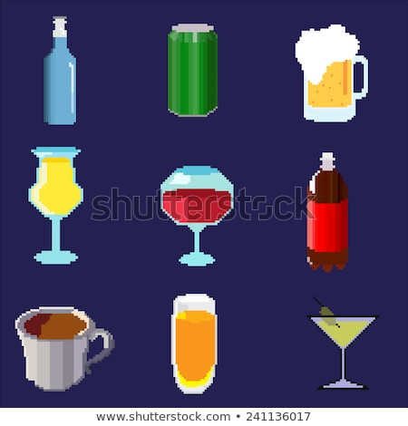wine bottle glass 8 bit video game art icon stock photo © krisdog