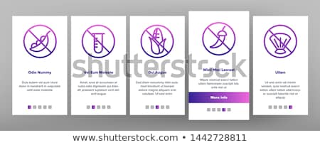 allergen free products vector onboarding stock photo © pikepicture