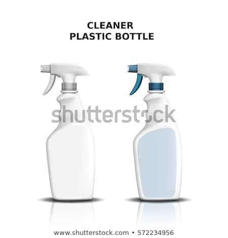 blank plastic spray bottle cleaning liquid vector stock photo © pikepicture