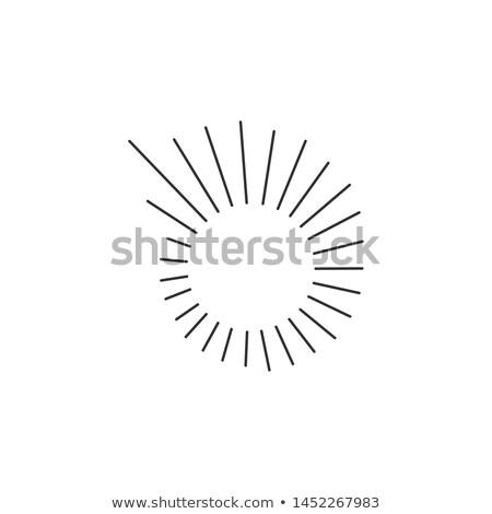 Líneas sol círculo espiral forma Foto stock © kyryloff