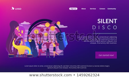 Silent disco concept landing page. Stock photo © RAStudio