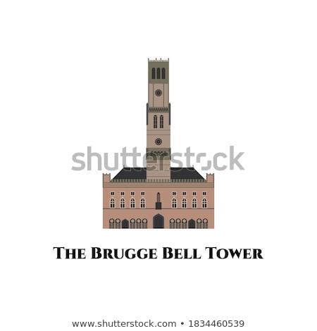 Clock torre campana città panorama Foto d'archivio © Glasaigh