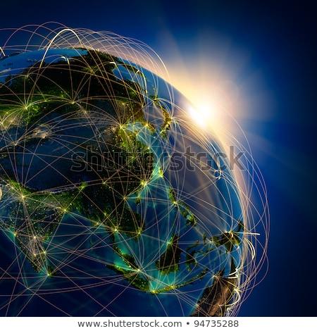 City · Lights · mapie · świata · Japonia · elementy · obraz · świecie - zdjęcia stock © NASA_images