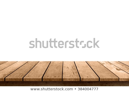 the surface of the wooden table isolated on white stock photo © galitskaya