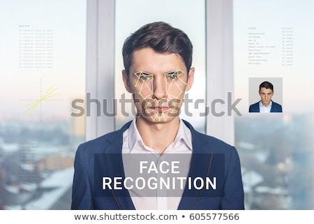 Uznanie twarz komputera technologii bezpieczeństwa Zdjęcia stock © ra2studio