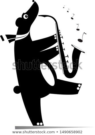 Funny ponosi odizolowany ilustracja cartoon gry Zdjęcia stock © tiKkraf69