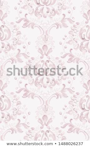 Klasszikus elegáns dísz minta vízfesték vektor Stock fotó © frimufilms