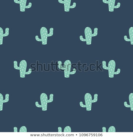 Banner template design with boy and cactus Stock photo © bluering