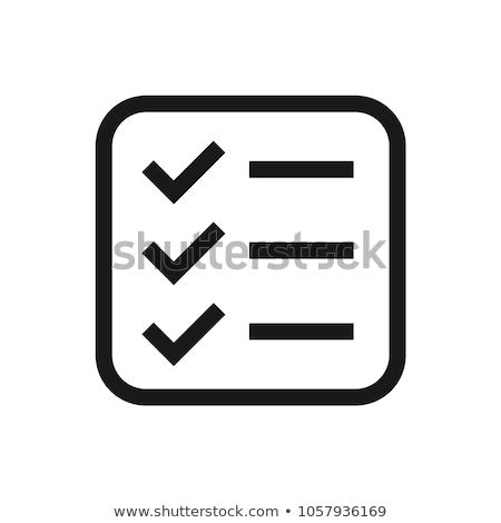 Checkmark icon with pencil Stock photo © -TAlex-