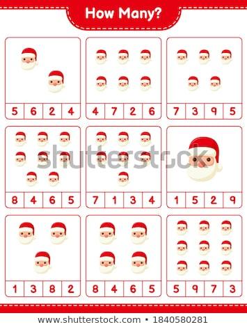 how many Santa Claus characters task for kids Stock photo © izakowski