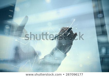 üzletember ötlet üzlet statisztika tábla személy Stock fotó © robuart