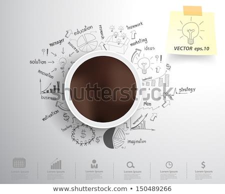 Strategia biznesowa plan zespołowej sukces wektora pracownika Zdjęcia stock © robuart
