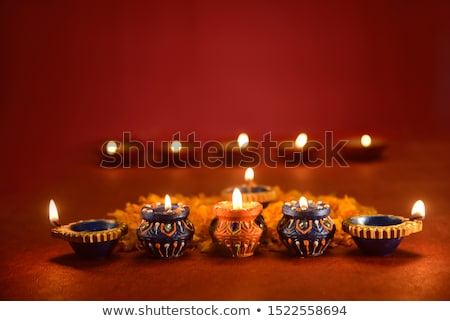 beautiful red happy dhanteras festival greeting background Stock photo © SArts