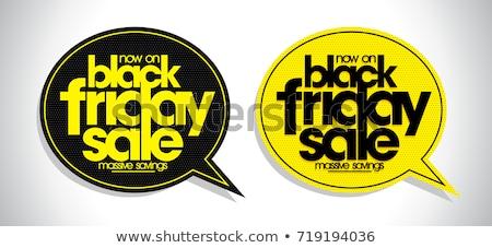 Stock photo: text black friday in a speech balloon