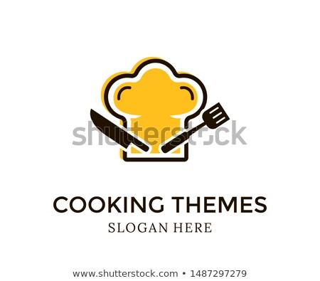 kitchen utensil chef hat theme logo icon sign vector Stock photo © vector1st
