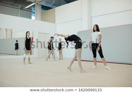Esneklik kızlar takım genç kadın koç Stok fotoğraf © pressmaster