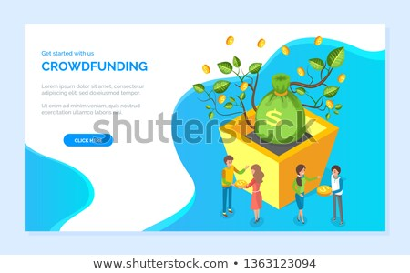 Get Started with Crowdfunding Website Page Vector Stock photo © robuart
