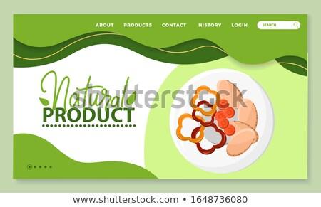 Természetes termék diétás étel paprika tányér Stock fotó © robuart