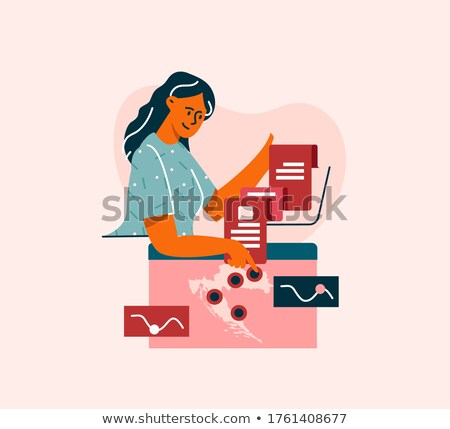 Business Meeting and Geographic Location Pointers Stock photo © robuart