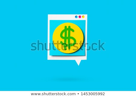 Check the foreign exchange rates isolated on blue Stock photo © johnkwan