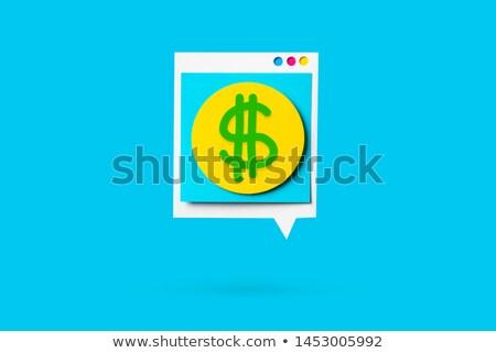 Comprobar extranjero intercambio aislado azul negocios Foto stock © johnkwan