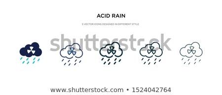 Kwas deszcz ikona wektora ilustracja Zdjęcia stock © pikepicture