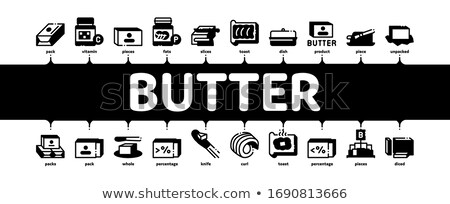 Butter Or Margarine Minimal Infographic Banner Vector Stock photo © pikepicture