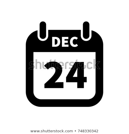 Simple black calendar icon with 24 march date isolated on white Stock photo © evgeny89