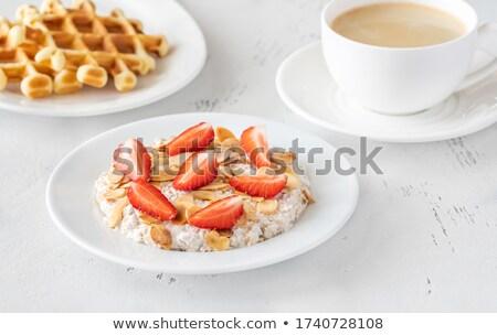 Muesli caseiro comida vermelho morango Foto stock © Alex9500