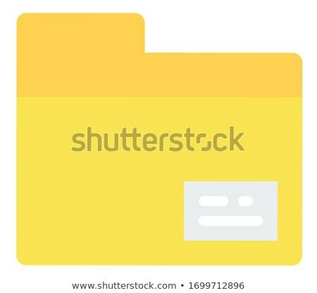 Dossier icône électronique galerie fichier gestionnaire Photo stock © robuart
