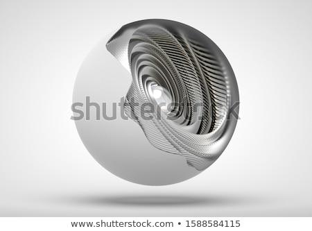 abstrato · futurista · esferas · ilustração · 3d · projeto · tecnologia - foto stock © oneo