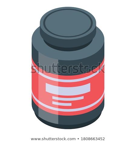 белок контейнера спорт изометрический икона вектора Сток-фото © pikepicture