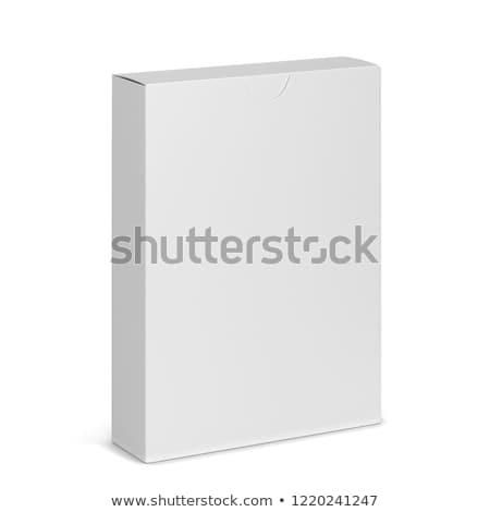 Doboz kártyapakli vázlat 3d illusztráció izolált fehér Stock fotó © montego