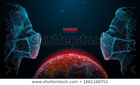 Koronavírus absztrakt teszt légzés probléma láz Stock fotó © RAStudio