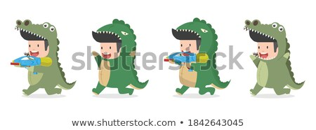 Cute animal costume series Stock photo © DamonAce