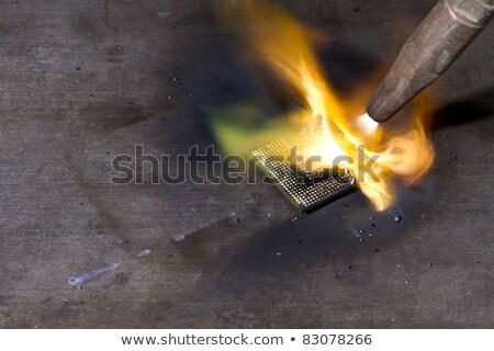 Brandend cpu blazen pijp computer industrie Stockfoto © gewoldi