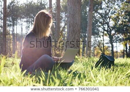 возбужденный · счастливым · молодые · деловой · женщины · используя · ноутбук · компьютер - Сток-фото © smithore