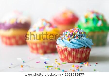 Stock photo: Assortment of fsncy cupcakes